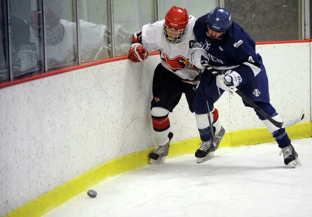 Darien and Greenwich High Schools compete in a Boys Ice Hockey Jamboree at Terry Conners Ice Rink in Stamford on Saturday, December 8, 2012. Photo: Lindsay Niegelberg / Stamford Advocate