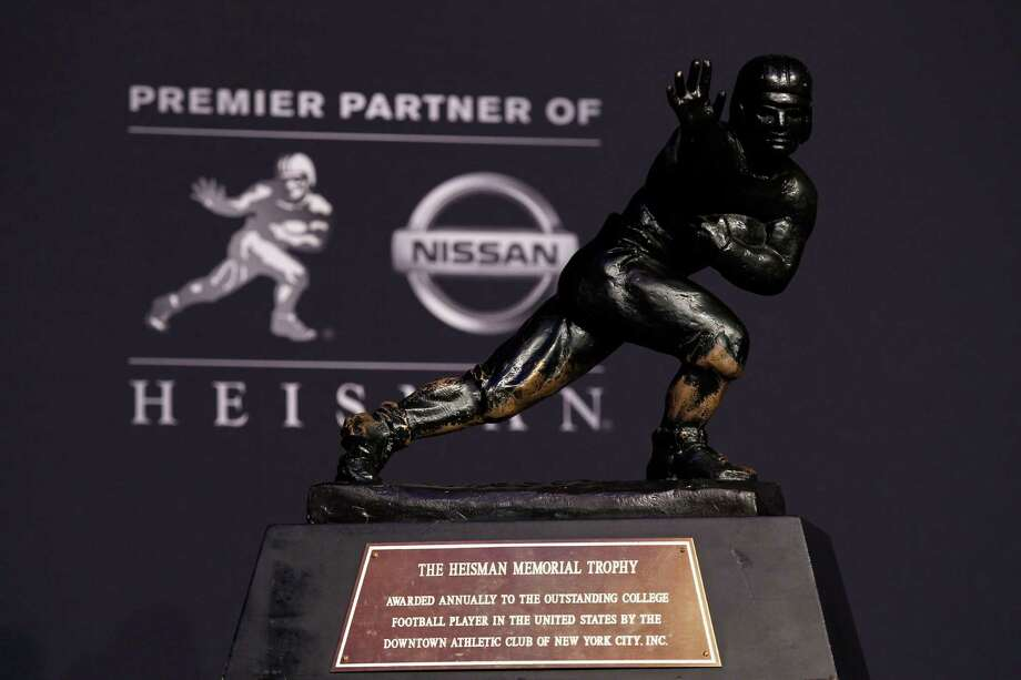 NEW YORK, NY - DECEMBER 08:  A view of the Heisman Memorial Trophy Award after a press conference prior to the 78th  Heisman Trophy Presentation at the Marriott Marquis on December 8, 2012 in New York City. Photo: Mike Stobe, Getty Images / 2012 Getty Images