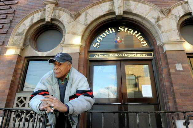 "Gerald ""Joe"" Dickson, 72, in front of the Albany South Station Precinct on Thursday, Nov. 29, 2012, in Albany, N.Y. Dickson was strip searched by Albany police two years ago after he was taken into custody for giving a ride to a drug dealer. (Cindy Schultz / Times Union) Photo: Cindy Schultz / 00020290A"