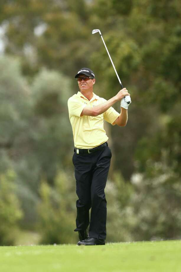 SYDNEY, AUSTRALIA - DECEMBER 07:  John Senden of Australia plays a fairway shot during round two of the 2012 Australian Open at The Lakes Golf Club on December 7, 2012 in Sydney, Australia.  (Photo by Mark Kolbe/Getty Images) Photo: Mark Kolbe