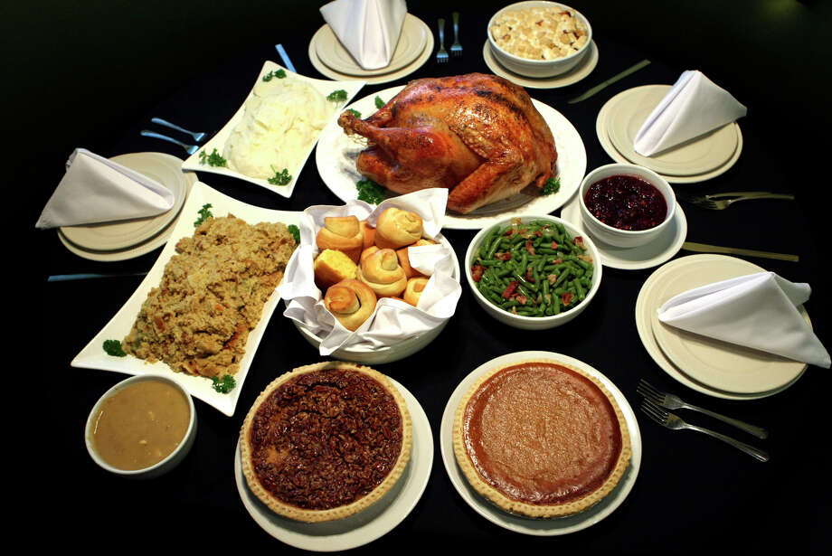 Earl Abel's Restaurant, 1201 Austin Highway, 210-822-7333, is taking orders for turkey or ham dinners, pies, cakes and sides until Dec. 21; payment due with order. Note: Limited availability. Oven-roasted turkey (23 pounds) or honey-glazed ham (6-8 pounds) package includes four quarts cornbread dressing, quart giblet gravy, quart cranberry relish, 25 rolls and pumpkin or apple pie, $160/turkey or $145/ham. Turkey package half-order, $100; half turkey only, $65. Sides, $9.50 a quart; rolls can be purchased for 35 cents each, minimum order half dozen. Note: To-go is closed Christmas Day. Need fried chicken? Order in main dining room with cashier. Photo: Helen L. Montoya, San Antonio Express-News / hmontoya@express-news.net