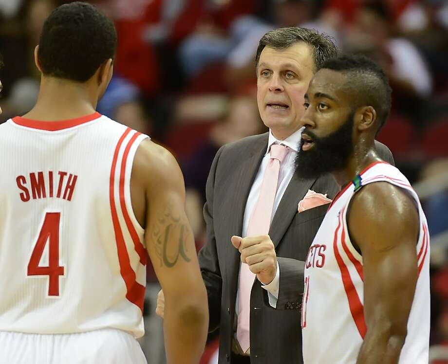 Kevin McHale was back on the Rockets' bench for the first time in nearly a month. Photo: George Bridges, McClatchy-Tribune News Service