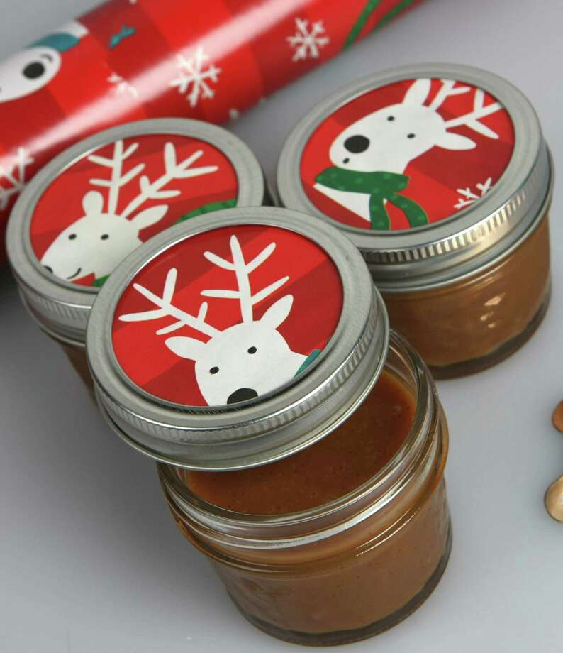 SALTED CARAMEL SAUCE Really impress your friends and family with this salted caramel sauce that goes great on just about everything. One batch makes about a cup and can be divided into three 4-ounce mason jars. Decorate jars with holiday ribbons or cut gift wrap to match the rest of your gifts. Pair caramel sauce with brie, homemade cookies, vanilla ice cream, whipped cream or fruit. Make sure to include a note card with reheating instructions.  Click here for our Salted Vanilla Bean Caramel Sauce recipe In a pinch? Pick up a 17-ounce jar of Williams-Sonoma's Salted Caramel Sauce. Photo: Helen L. Montoya, San Antonio Express-News / San Antonio Express-News