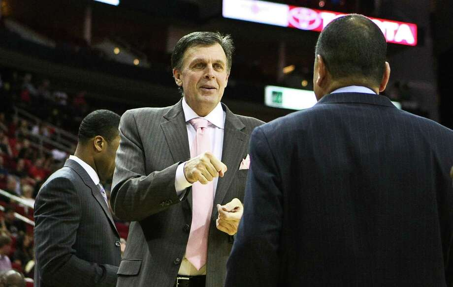 Coach Kevin McHale said talks with Kelvin Sampson were a welcome diversion during his leave of absence. Photo: Nick De La Torre, Staff / © 2012  Houston Chronicle