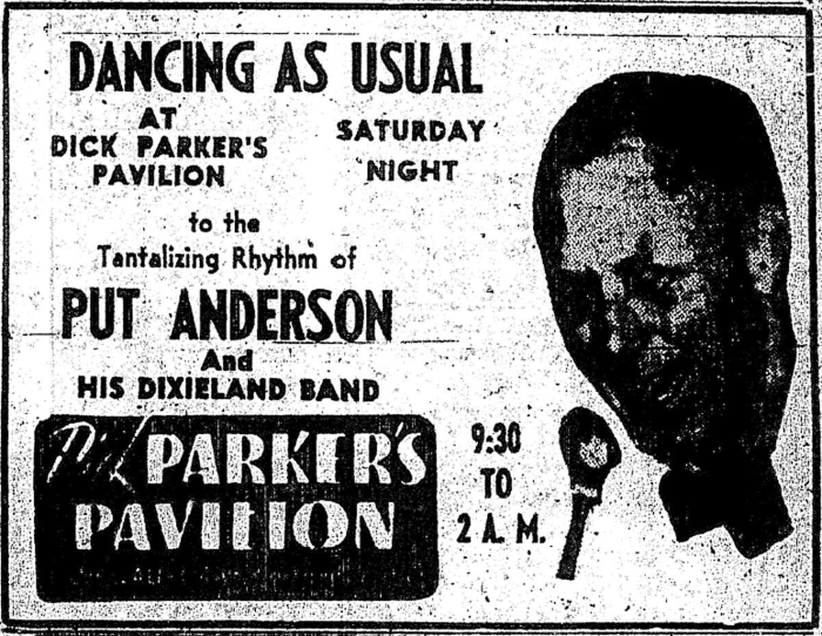 An Aug. 22, 1947 P-I advertisement for Put Anderson and His Dixieland Band at Dick Parker's Pavilion. The dance hall opened in 1930, and Anderson was a popular local act who started playing Parker's that decade. The building, which recently had remained as Parker's Sports Bar and Casino, was demolished in Nov. 2012.