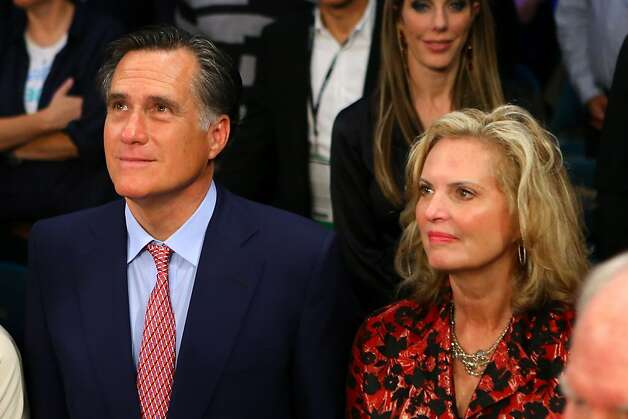 LAS VEGAS, NV - DECEMBER 08:  Former Republican presidential candidate and Massachusetts Gov. Mitt Romney and wife Ann Romney sit ringside before Manny Pacquiao takes on Juan Manuel Marquez in their welterweight bout at the MGM Grand Garden Arena on December 8, 2012 in Las Vegas, Nevada.  (Photo by Al Bello/Getty Images) Photo: Al Bello, Getty Images