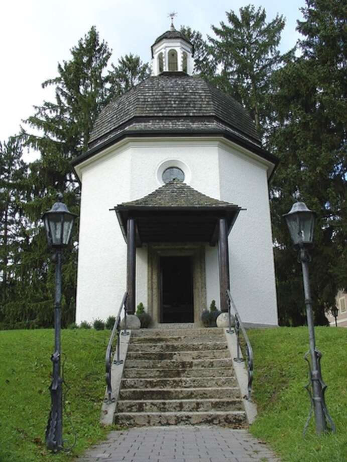 The Silent Night Memorial Chapel in Oberndorf, Austria. The original St. Nicholas Church (where 'Silent Night' was first sung) was severely damaged due to heavy flooding and was eventually torn down in the late 19th century. The present chapel was  consecrated August 15, 1937, 13 years after construction.