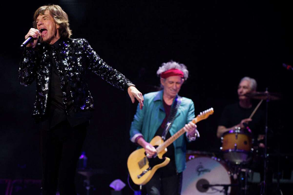 Mick Jagger, from left, Keith Richards and Charlie Watts of The Rolling Stones perform in concert on Saturday, Dec. 8, 2012 in New York.