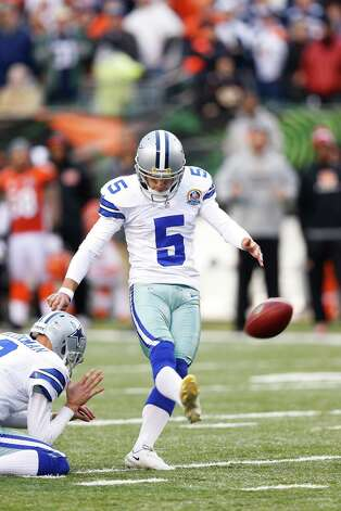 Dan Bailey #5 of the Dallas Cowboys kicks a 40-yard field goal to win the game against the Cincinnati Bengals at Paul Brown Stadium on December 9, 2012 in Cincinnati, Ohio. Dallas won 20-19. Photo: Joe Robbins, Getty Images / 2012 Getty Images