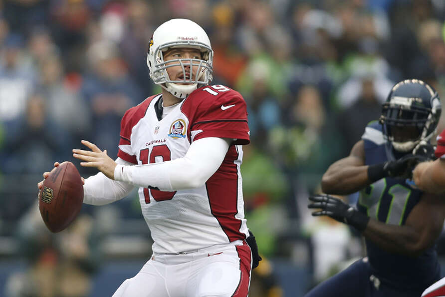 Arizona Cardinals quarterback John Skelton (19) passes against the Seattle Seahawks during the first