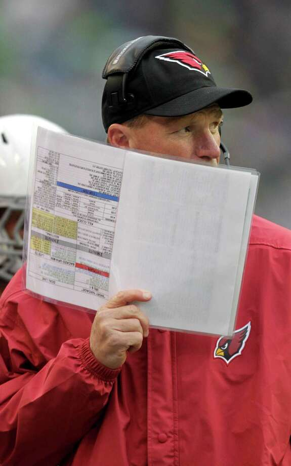 Arizona Cardinals head coach Ken Whisenhunt against the Seattle Seahawks during the first half of an NFL football game in Seattle, Sunday, Dec. 9, 2012. Photo: AP