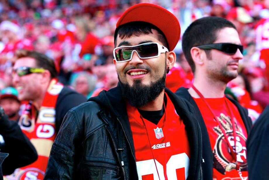San Francisco Giants baseball player Sergio Romo at the San Francisco 49ers game against the Miami Dolphins at Candlestick Park in San Francisco, Calif., on Sunday December 9, 2012. Photo: Brant Ward, The Chronicle / ONLINE_YES