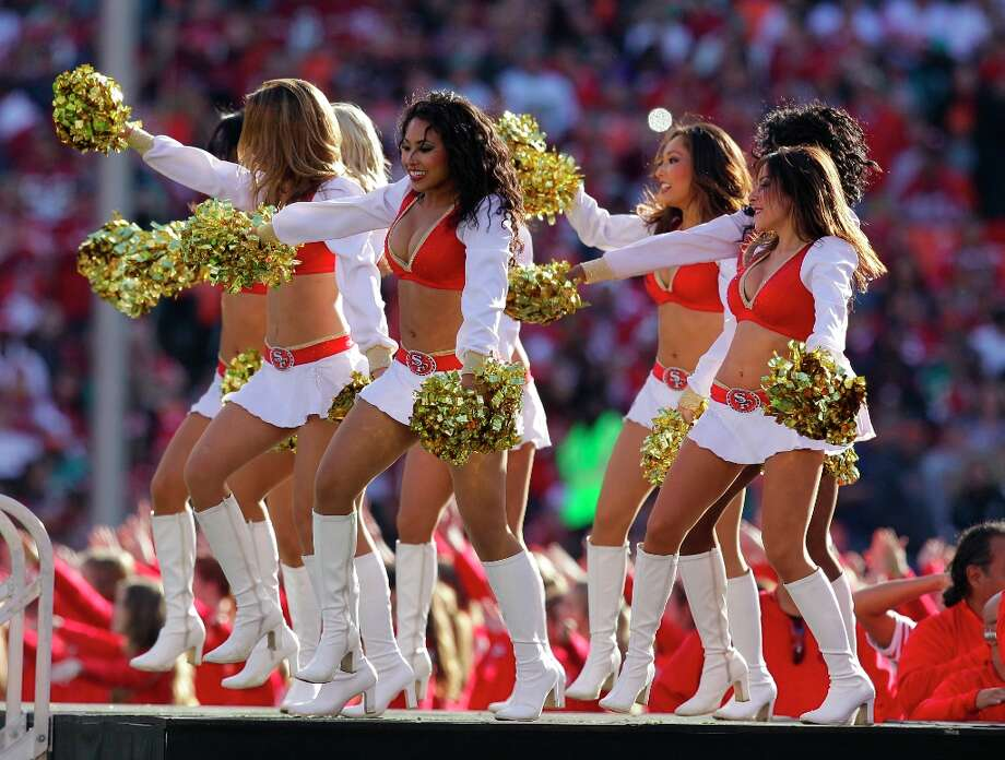 San Francisco 49ers cheerleaders perform during halftime of an NFL football game between the San Francisco 49ers and the Miami Dolphins in San Francisco, Sunday, Dec. 9, 2012. (AP Photo/Ben Margot) Photo: Ben Margot, Associated Press / AP