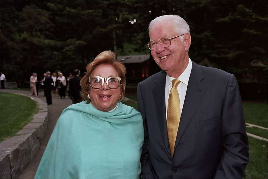 Ellen and Walter Newman were an inseparable couple, traveling the world, attending spring training with the Giants and owning 49ers season tickets. Photo: Thomas J. Gibbons, Special To The Chronicle