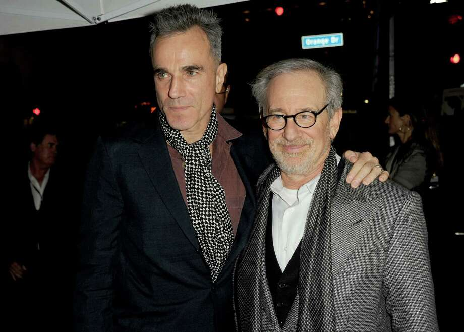 "Best director contender, Steven Spielberg for ""Lincoln"" Photo: Actor Daniel Day-Lewis (left) and Spielberg arrive at the ""Lincoln"" premiere during AFI Fest 2012 presented by Audi at Grauman's Chinese Theatre in Hollywood on Nov. 8, 2012.