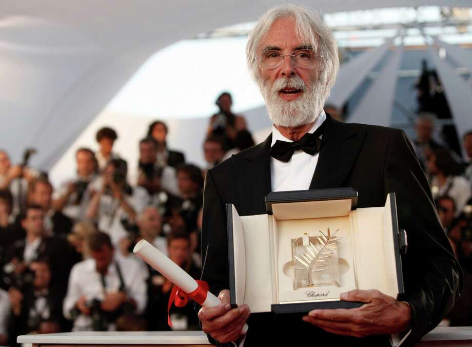 """And don't forget ... Best director contender, Michael Haneke for """"Amour"""": This much-honored Austrian filmmaker belongs in Oscar contention.   Photo: Haneke with the Palme d'Or award for the film """"The White Ribbon"""" during the 62nd International film festival in Cannes, southern France on May 24, 2009.  Photo: Matt Sayles, Associated Press / AP"""
