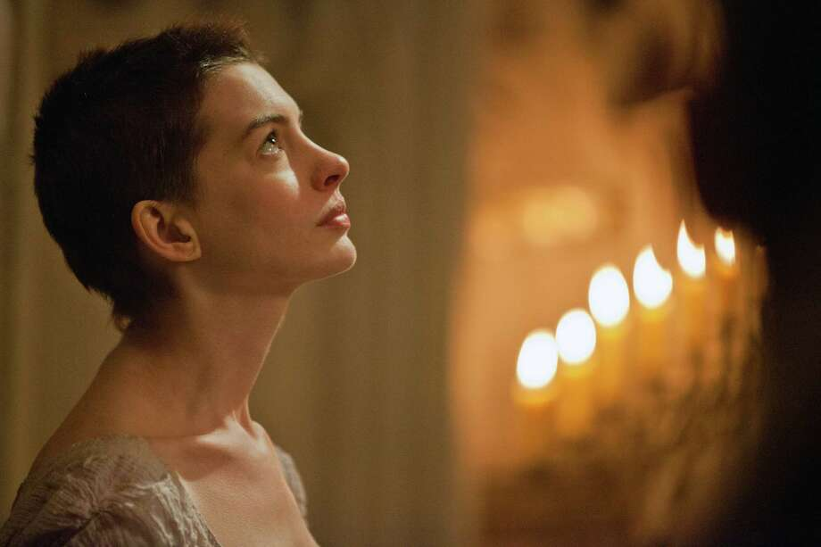 "Best actress contender, Anne Hathaway in ""Les Misérables"": Finally, she gets to showcase  her singing chops with such lilting ballads as ""I Dreamed a Dream."" Photo: Laurie Sparham, Universal Pictures / Universal Pictures"