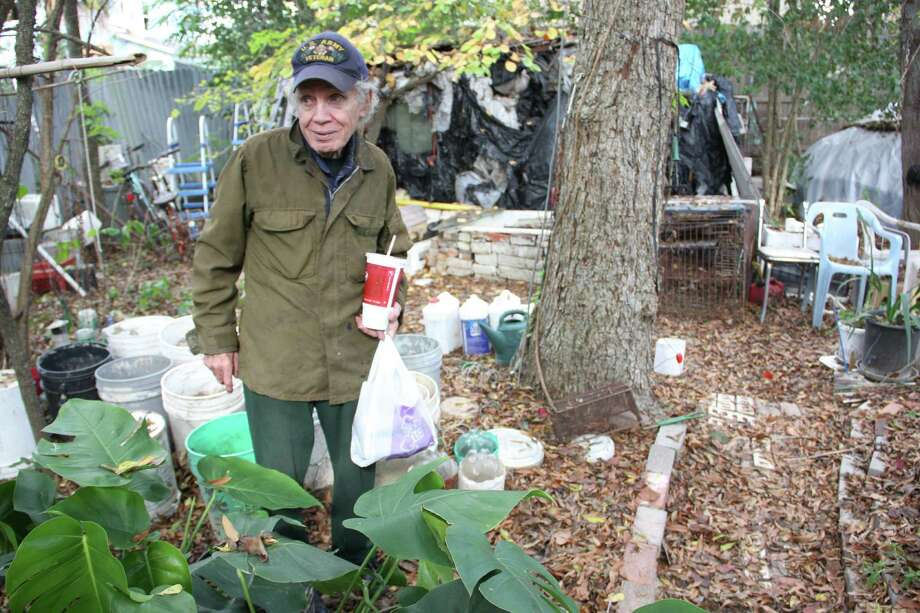 Burt Fairston, 77, was left homeless for several months when his southwest Houston home was condemned and torn down earlier this year, in part because of damage he couldn't afford to repair after Hurricane Ike. Photo: Jayme Fraser