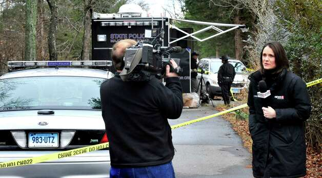 This is the scene outside a house on Hilltop Drive in New Fairfield where Svetlana Bell was shot and killed Saturday night Dec. 8, 2012. Photographed Sunday, Dec. 9, 2012. Photo: Michael Duffy