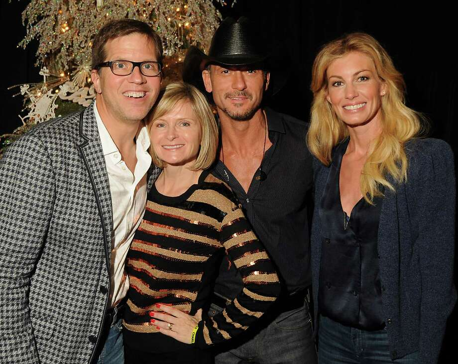 From left: Mark and Becky Lanier with Tim McGraw and Faith Hill at the Lanier Christmas Party Sunday Dec. 09, 2012.(Dave Rossman/For the Chronicle) Photo: Dave Rossman, Freelance / © 2012 Dave Rossman