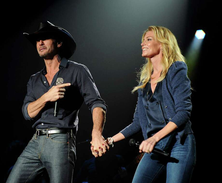 Tim McGraw and Faith Hill perform Sunday at the Lanier Law Firm's annual Christmas Party on Mark and Becky Lanier's Champion Forest-area spread. Photo: Dave Rossman, Freelance / © 2012 Dave Rossman