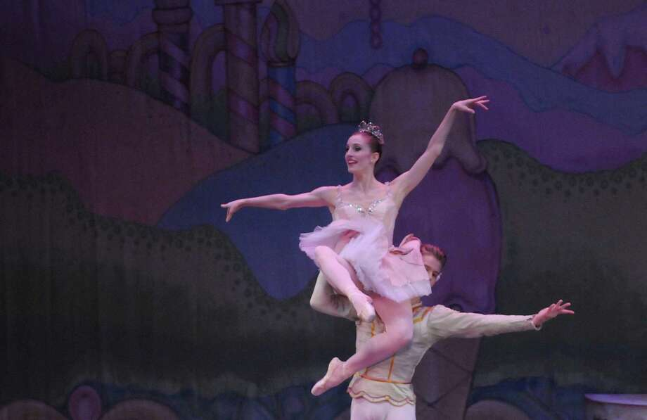 New York City Ballet dancers Wendy Whelan and Chase Finlay  perform during the Northeast Ballet Company's 120th anniversary production of the The Nutcracker Ballet at Proctors on Sunday, Dec. 9, 2012 in Schenectady, NY.  (Paul Buckowski / Times Union) Photo: Paul Buckowski