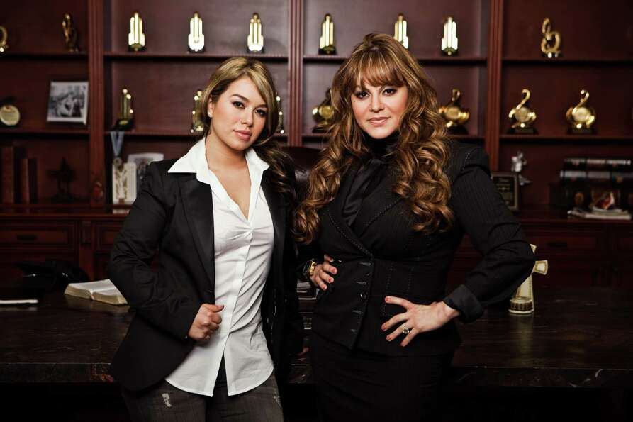 Jenni Rivera (right) stands with daughter Janney Chiquis Marin, one of the co-stars of Jenni Rive