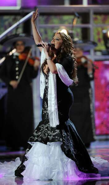 Singer Jenni Rivera performs onstage during the 9th Annual Latin Grammy Awards held on November 1