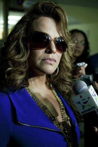 File picture taken on June 14, 2011, of Mexican-American singer Jenni Riverawho died in a plane crash on December 9, 2012 close to Iturbide, Nuevo Leon state, Mexico. The wreckage of a plane carrying star Mexican-American singer Jenni Rivera has been found in northern Mexico and there were no survivors, officials said. The Lear Jet was flying from south from Monterrey to Toluca, in the center of the country and was carrying six other people besides the singer, said Antonio Gonzalez, mayor of the town of Iturbide, near the crash site. Photo: AFP/Getty Images / AFP