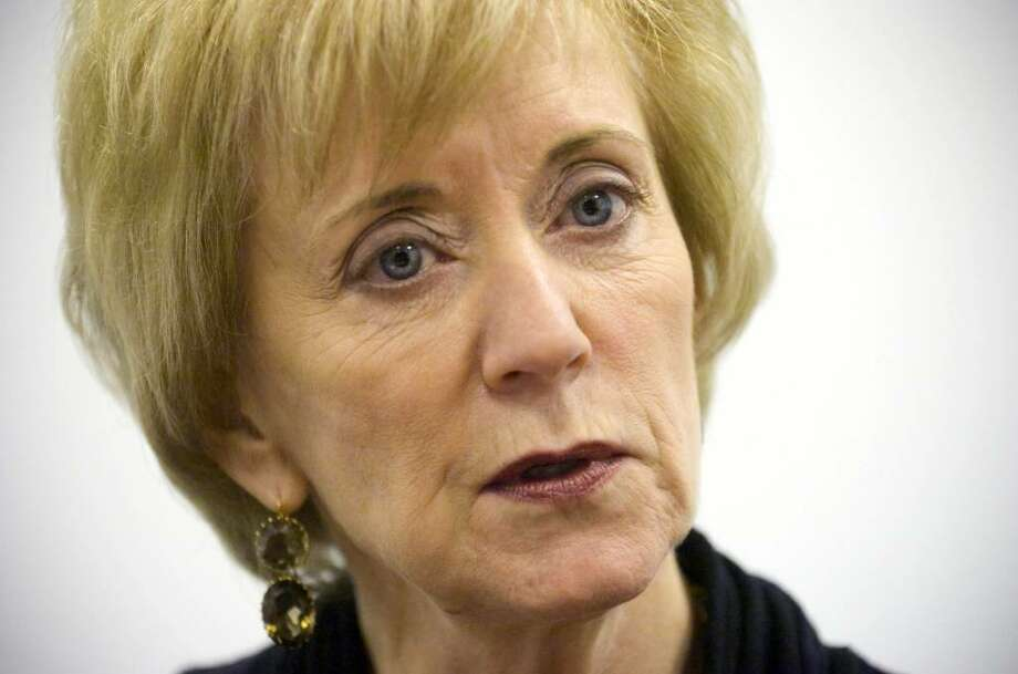 Linda McMahon, former CEO of World Wrestling Entertainment and current Republican candidate for U.S. Senate, during an interview at her campaign headquarters in Stamford, Conn. on Tuesday, Dec. 15, 2009. Photo: Chris Preovolos / Stamford Advocate