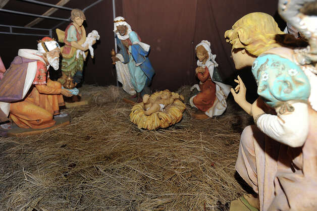 Christus St. Elizabeth's well known nativity scene is Italian made and is the only part still used at the hospital during Christmas. Photo taken Friday, December 07, 2012 Guiseppe Barranco/The Enterprise Photo: Guiseppe Barranco, STAFF PHOTOGRAPHER / The Beaumont Enterprise