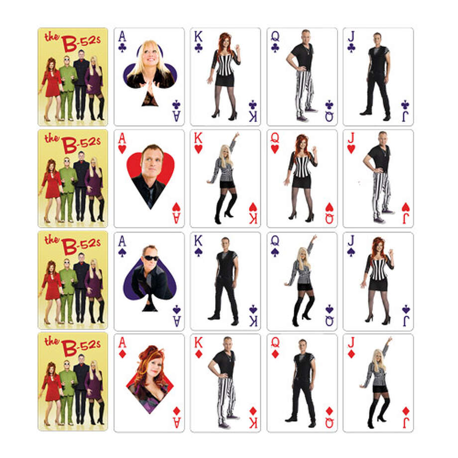 The B-52's playing cards. The only problem is there are too many queens. (Live Nation)
