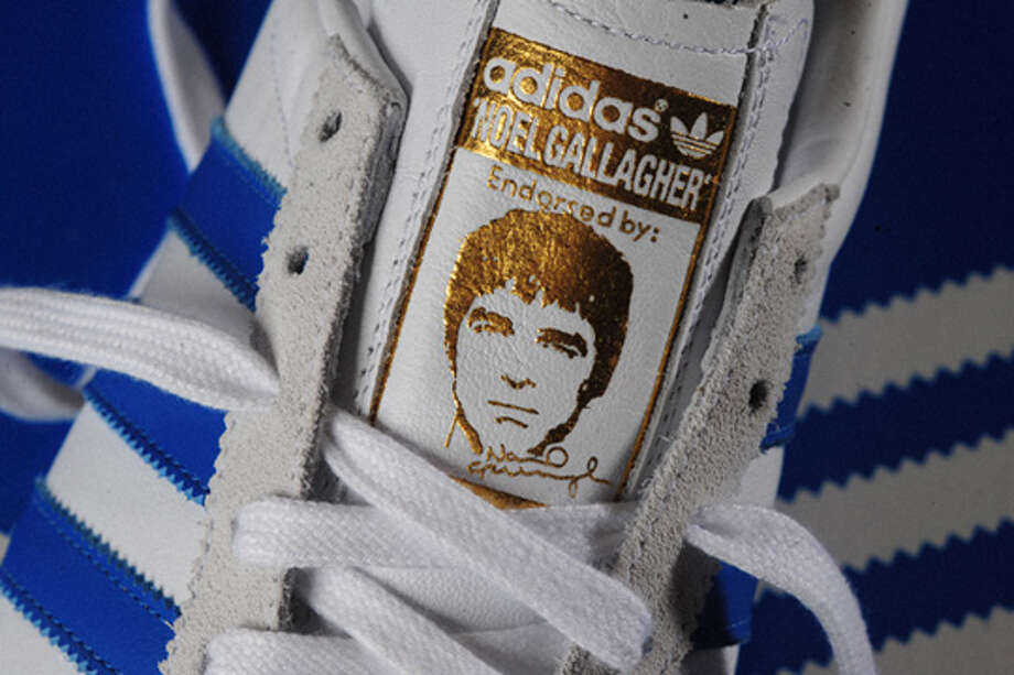 Noel Gallagher Adidas sneakers. Perfect for kicking your brother in the head, especially if his name is Liam. (Adidas)