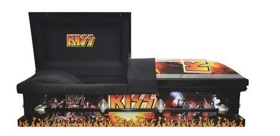 KISS casket. You might end up needing it sooner than you think -- the bill will most certainly give you a heart attack. (KISS Official Store)