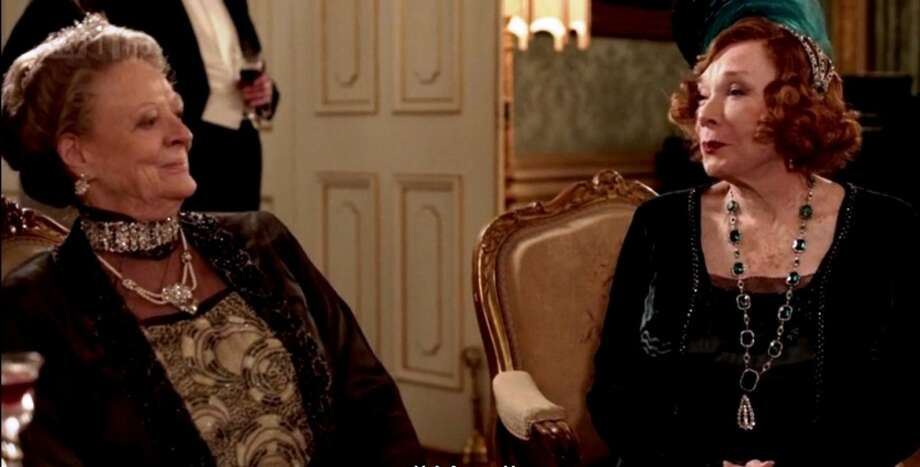 Maggie.Smith and Shirley MacLaine spout the best lines as the royal grandmothers.  (BBC)
