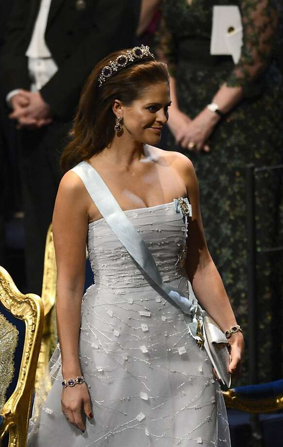 Princess Madeleine of Sweden attends the Nobel Prize Ceremony 2012 on December 10, 2012 in Stockholm, Sweden. The winners of the Nobel Prize 2012 in the categories of medicine, physics, chemistry, literature and economics received their awards from the hands of Sweden's King Carl XVI Gustaf at a formal ceremony, followed by a gala banquet. Photo: Jonathan Nackstrand, AFP/Getty Images