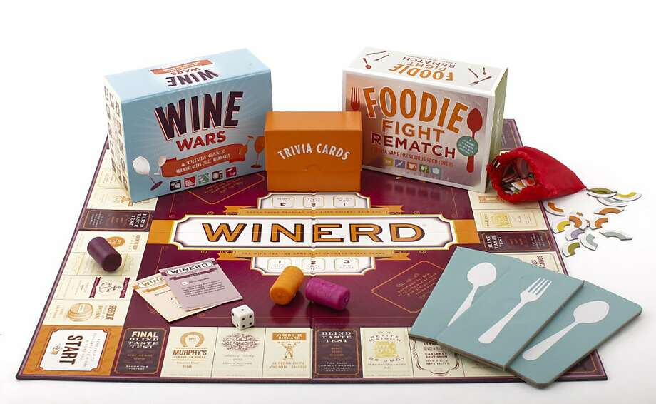 """Game on! Foodies, wine nerds and others epicurean – Home picklers, amateur butchers, cakewreck.com fans, we know who you are! – can now compete between courses at holiday feasts for bragging rights with """"Wine Wars,"""" """"Foodie Fight Rematch"""" and """"Winerd."""" ($22.95 to $35, www.chroniclebooks.com). Everyone else can hang out in the kitchen and gossip. Photo: Russell Yip, The Chronicle"""