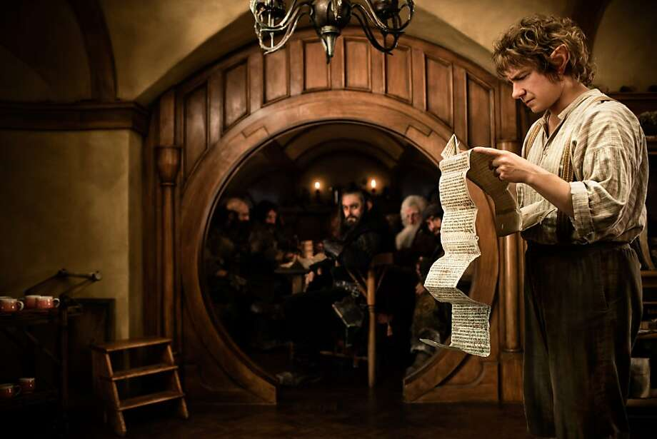 "Martin Freeman plays Bilbo Baggins in Peter Jackson's ""The Hobbit: An Unexpected Journey,"" a prequel to ""Lord of the Rings,"" with Bilbo in a quest to save a dwarf kingdom and its treasure. Photo: James Fisher, Associated Press"