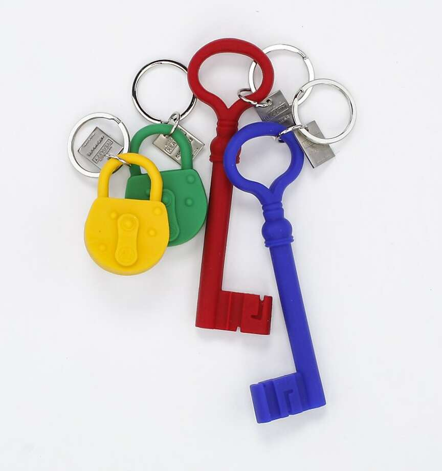 You know what they say about a long key? Little castle. And padlocks, what's said about them we won't repeat. But these silicon keychains ($12 to $14, www.areawear.com) are easy to find in a properly stuffed stocking. You may even want to slip a key on the ring. To make it official, if not legal. Photo: Russell Yip, The Chronicle