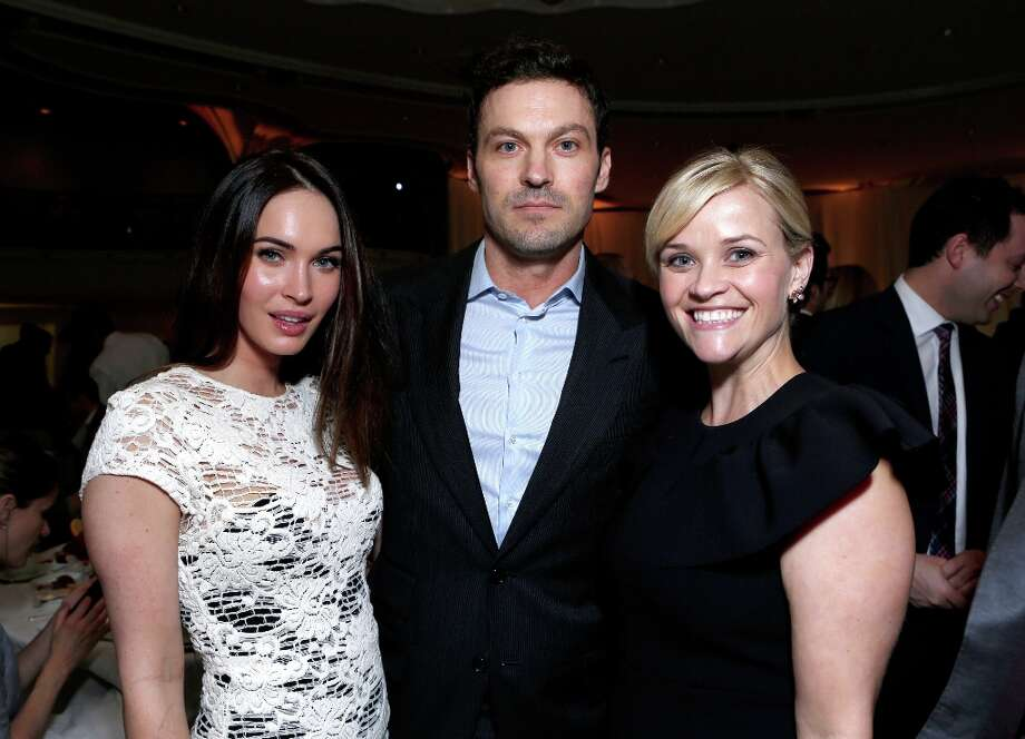 (L-R) Actors Megan Fox and Brian Austin Green and honoree Reese Witherspoon attend the 7th Annual March of Dimes Celebration of Babies, a Hollywood Luncheon, at the Beverly Hills Hotel on December 7, 2012 in Beverly Hills, California. Photo: Alexandra Wyman / 2012 Getty Images