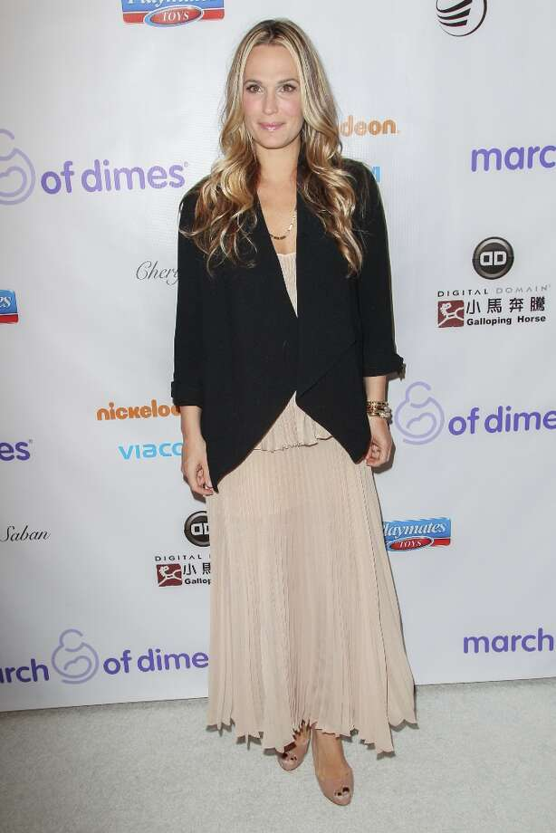 Molly Sims arrives at the March Of Dimes' Celebration Of Babies held at the Beverly Hills Hotel on December 7, 2012 in Beverly Hills, California. Photo: Paul A. Hebert, Getty Images / 2012 Getty Images