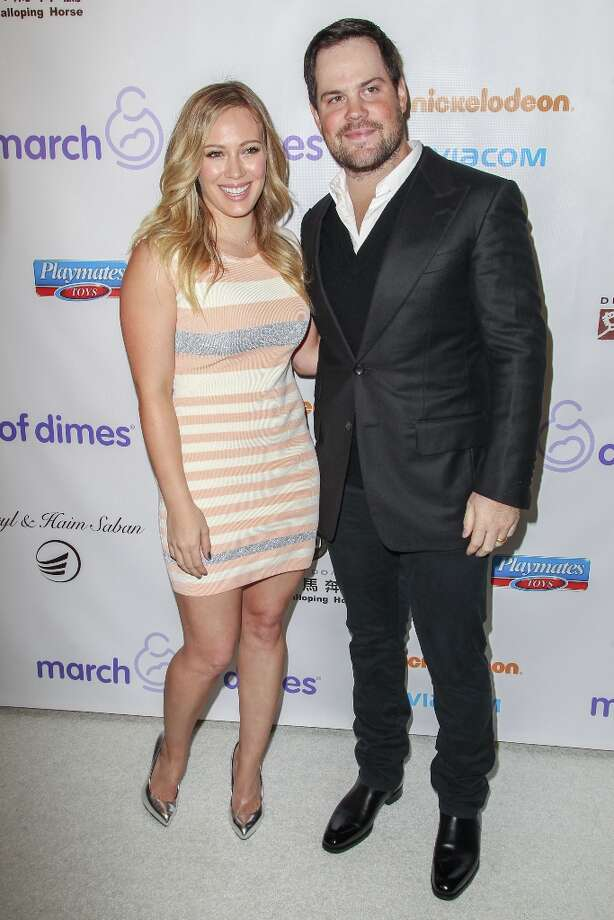 Mike Comrie and Hilary Duff arrive at the March Of Dimes' Celebration Of Babies held at the Beverly Hills Hotel on December 7, 2012 in Beverly Hills, California. Photo: Paul A. Hebert, Getty Images / 2012 Getty Images