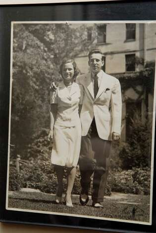 A early photo of Ruth and Harold Sandak at her home in Stamford, Conn. on Monday December 10, 2012. She and late husband Harold were the owners of Sandak, Inc which created slides of art and architecture. Photo: Dru Nadler / Stamford Advocate Freelance