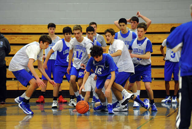 during boys basketball practice in Fairfield, Conn. on Thursday December 6, 2012. Photo: Christian Abraham / Connecticut Post