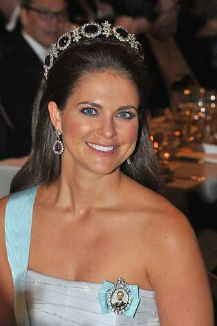 STOCKHOLM, SWEDEN - DECEMBER 10:  Princess Madeleine of Sweden attends the Nobel Banquet after the 2012 Nobel Prize Ceremony at Town Hall on December 10, 2012 in Stockholm, Sweden. Photo: Pascal Le Segretain, Getty Images