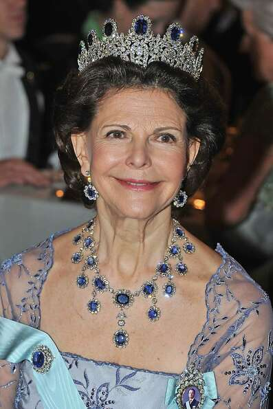 Queen Silvia of Sweden attends the Nobel Banquet after the 2012 Nobel Peace Prize Ceremony at Town H