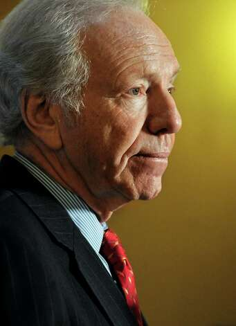 Sen. Joseph Lieberman, I-Conn., speaks during a news conference at the state capitol in Hartford, Conn., Monday, Dec. 10, 2012.  Lieberman is kicking off a farewell tour with words of thanks for the people of Connecticut and warnings about dysfunction in Washington. Lieberman is retiring at the end of the session on Jan. 3 after 24 years in the Senate. (AP Photo/Jessica Hill) Photo: Jessica Hill, Associated Press / FR125654 AP
