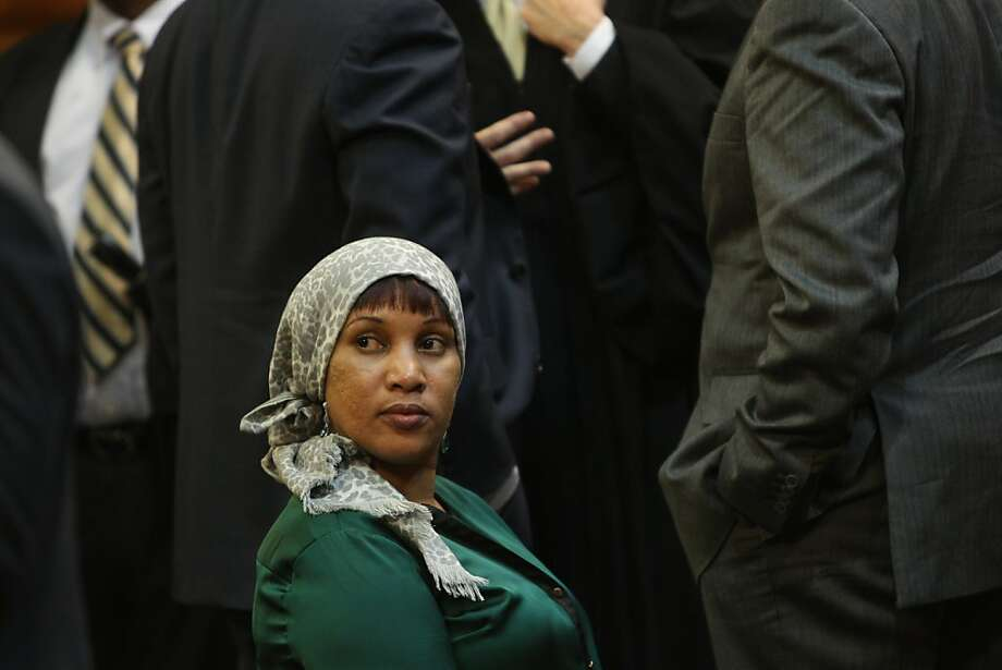 Nafissatou Diallo, a hotel housekeeper who alleged that she was sexual assaulted by former International Monetary Fund leader Dominique Strauss-Kahn, appears in court in New York on December 10, 2012. Nafissatou Diallo, 33, arrived at the Bronx courthouse with her lawyer Kenneth Thompson and went inside well in advance of the session without addressing the journalists gathered outside. AFP PHOTO/POOL/Seth WenigSeth Wenig/AFP/Getty Images Photo: Seth Wenig, AFP/Getty Images