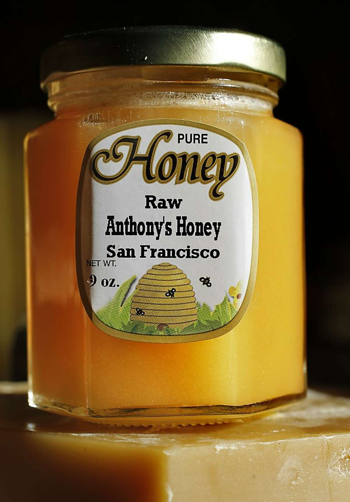 Anthony's honey from the Stern Grove neighborhood at Her Majesty's Secret Beekeeper shop in San Francisco, Calif. Calif. on Saturday Dec. 8, 2012.