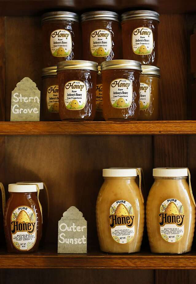 Her Majesty's Secret Beekeeper in the Mission stocks S.F. honeys. More than half the honey sold in the U.S. is foreign. Photo: Michael Macor, The Chronicle